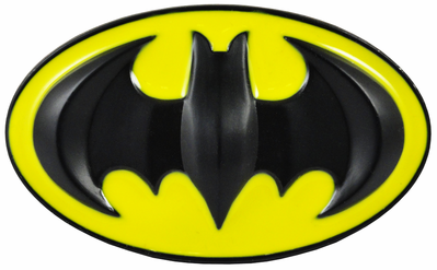 Deluxe Classic Batman Belt Buckle (Yellow/Black).