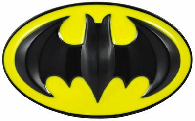 Deluxe Classic Batman Belt Buckle (Yellow/Black).