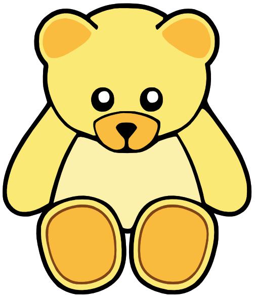 Yellow Teddy Bear Clipart.