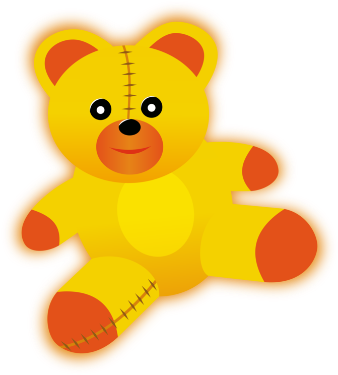 Great Yellow Teddy Bear Clip Art At Clker Vector Clip.