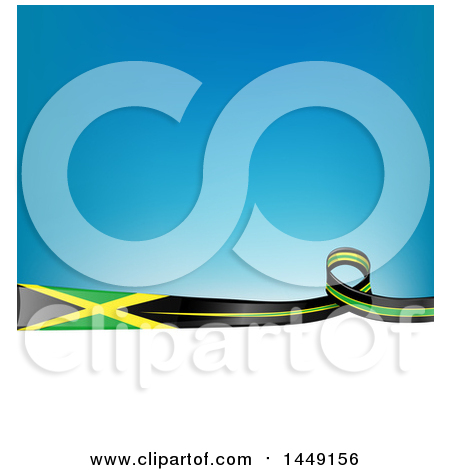 Clipart Graphic of a Blue and White Israel Ribbon Flag Border.