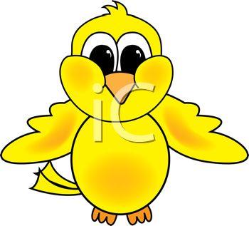 Clipart Illustration of a Yellow Bird.