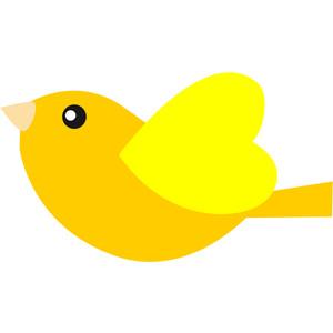 Yellow Bird Clipart.
