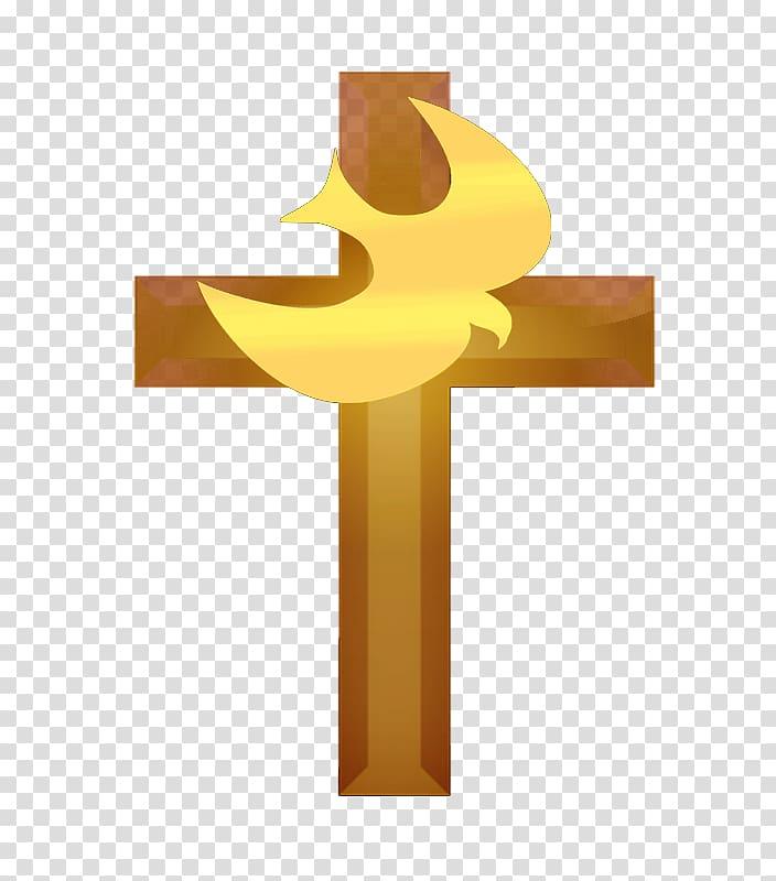 Cross and yellow bird , Child Christian cross Prayer Saint.