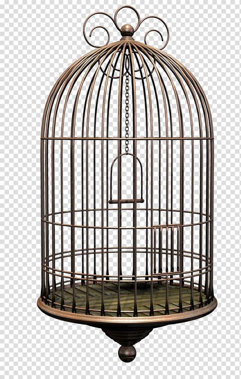 D Bird Cage, brown birdcage transparent background PNG.