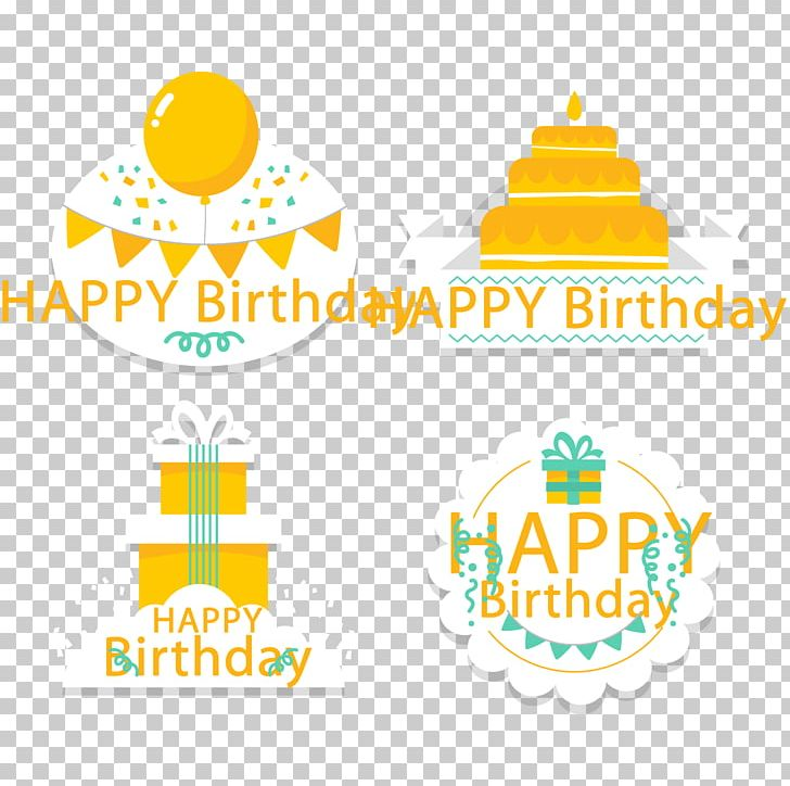 Yellow Birthday Happy Tag PNG, Clipart, Area, Baby Toddler.