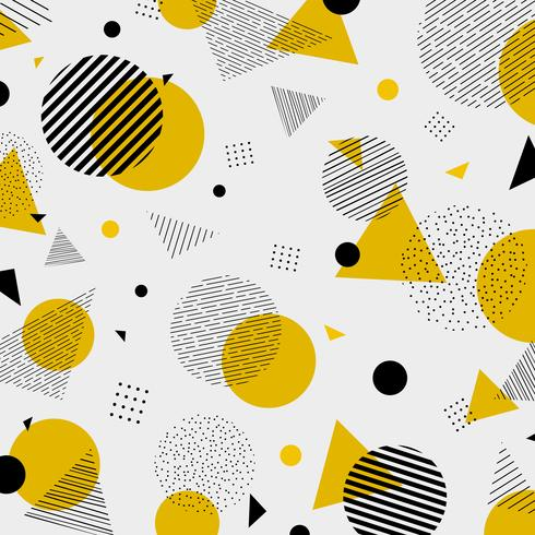 Abstract colorful geometric yellow black colors pattern.