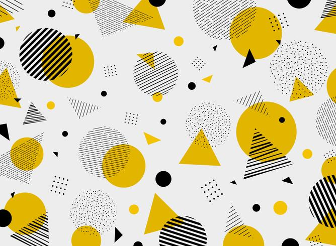 Abstract geometric yellow black colors pattern modern.