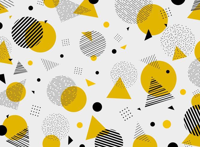 Abstract geometric yellow black colors pattern modern.