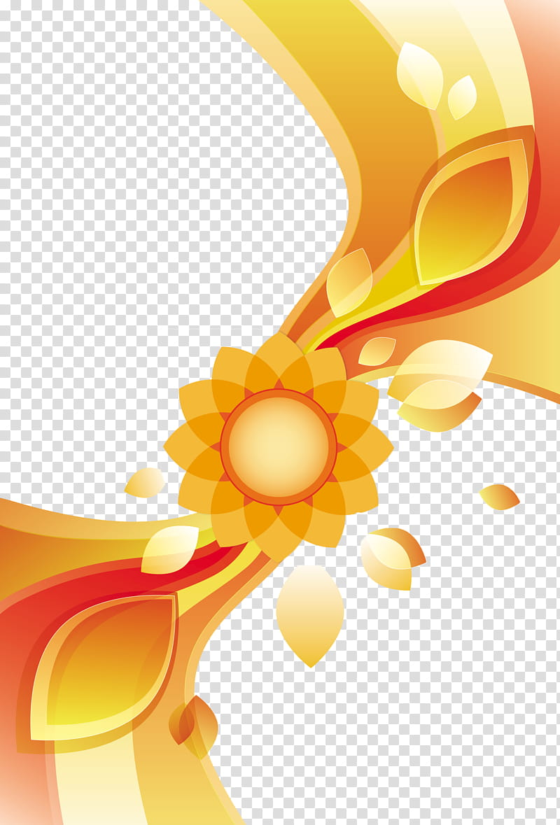 Abstract , yellow and red cloth transparent background PNG.