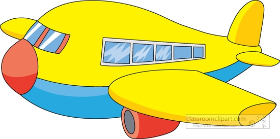 Yellow Airplane Clipart.