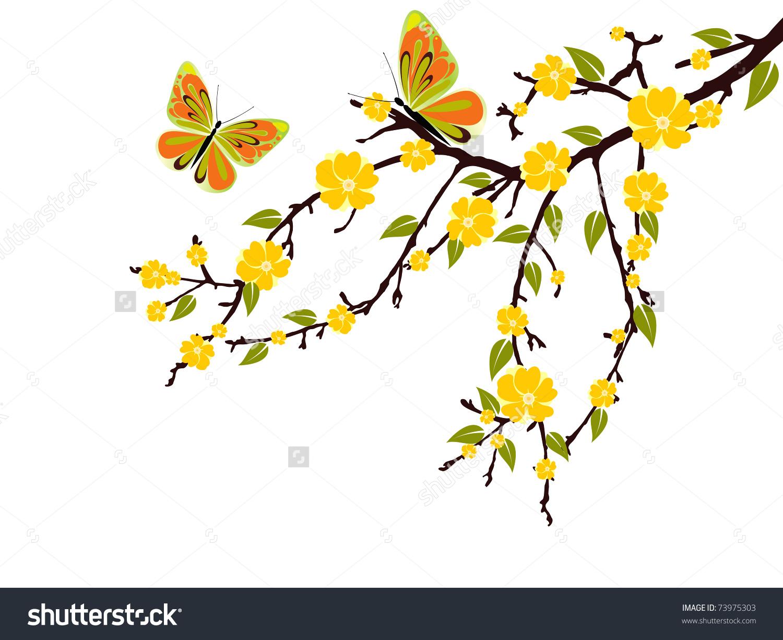 Yellow Blossom Vector Stock Vector 73975303.