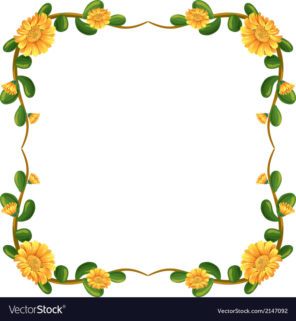 A floral border with yellow flowers.