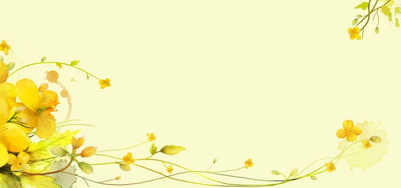 Yellow Flowers Fresh Poster Banner Background in 2019.