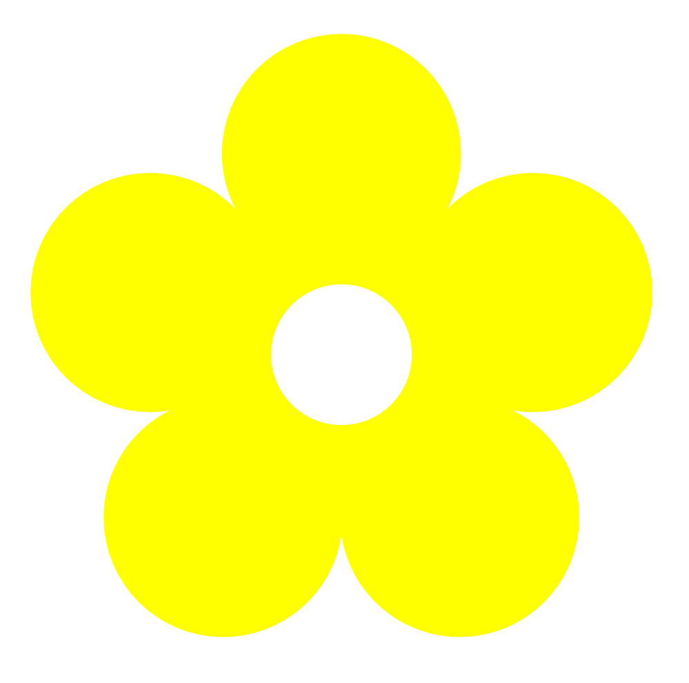 Yellow flower clipart png.
