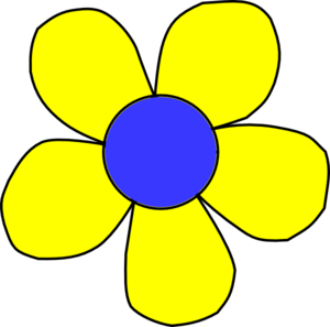Blue And Yellow Flowers Clipart.