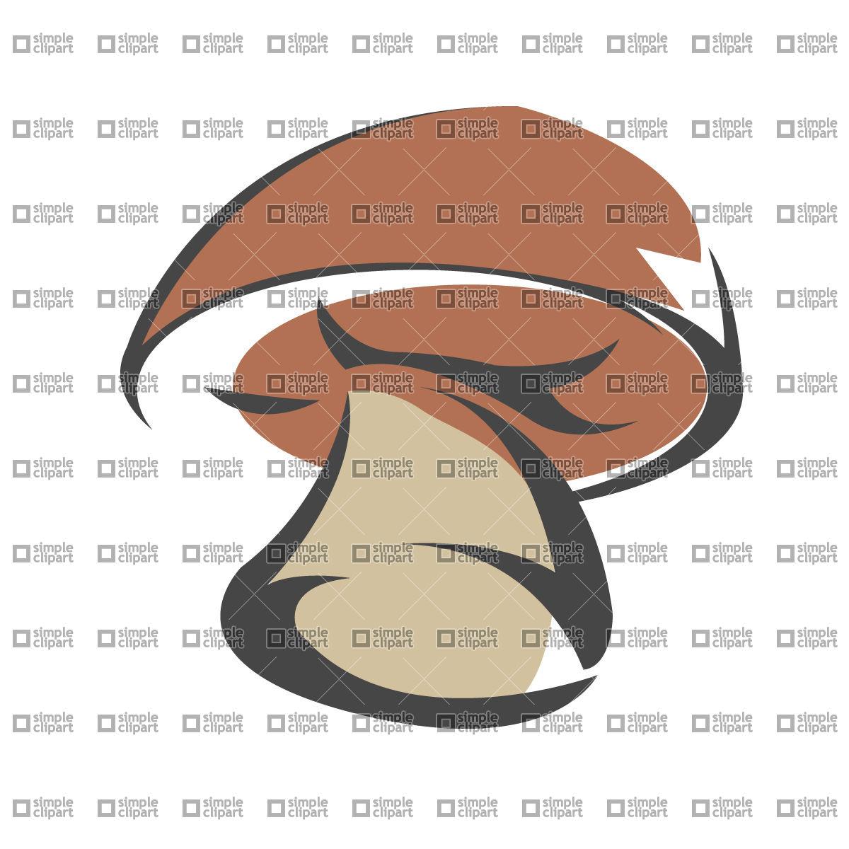 Yellow boletus, mushroom Vector Image #573.