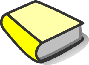 Yellow Book Reading Clip Art.