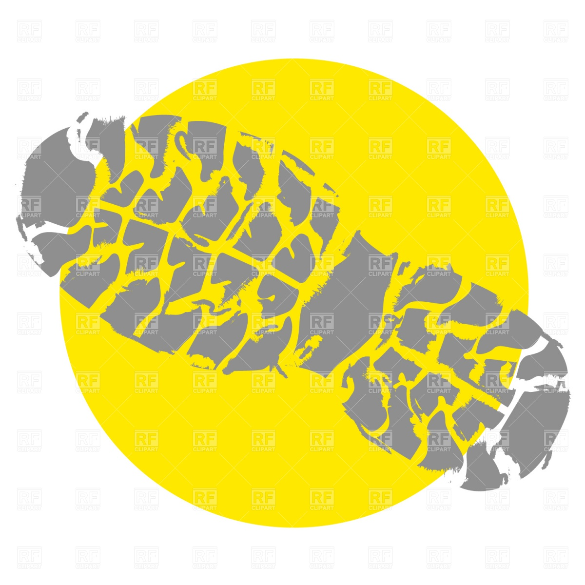 Yellow shoe print clipart.
