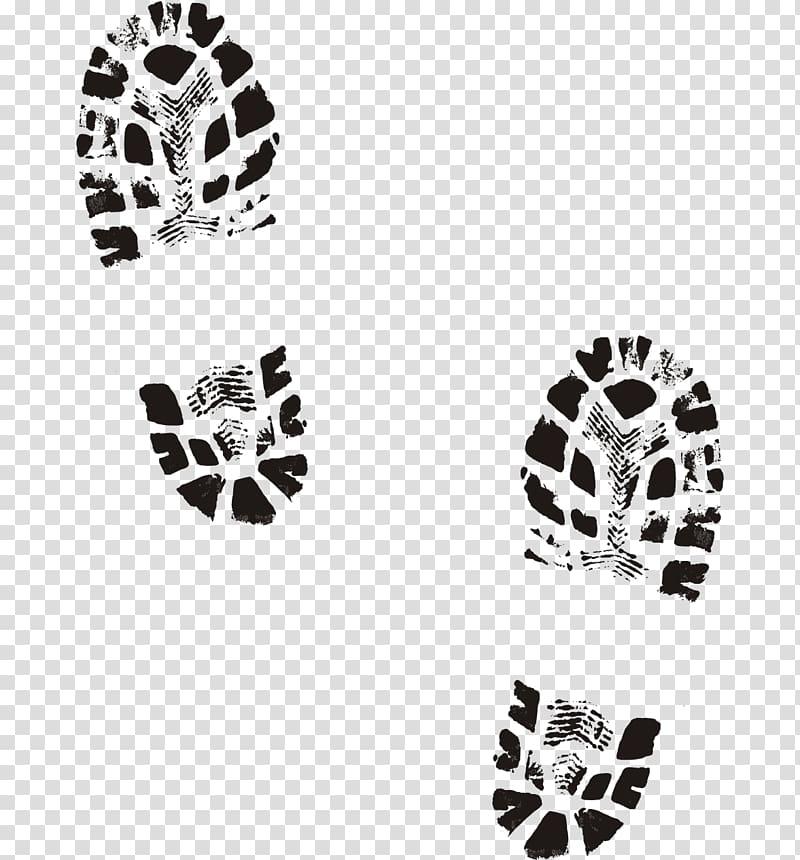Boots print illustration, Shoe Boot Printing Footprint.