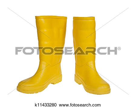 Stock Photography of rubber boot yellow color k11433280.