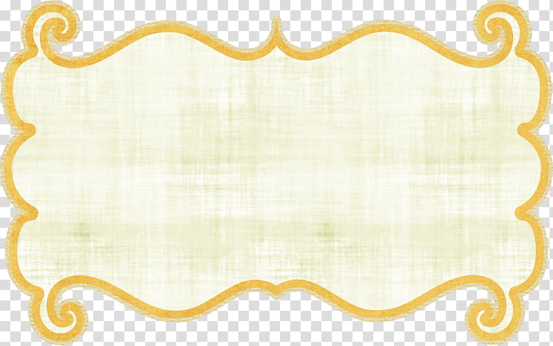 Yellow border line transparent background PNG clipart.