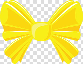 Colorful Bows, yellow bow tie transparent background PNG.