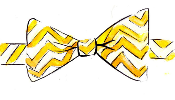 Yellow bow tie clipart.