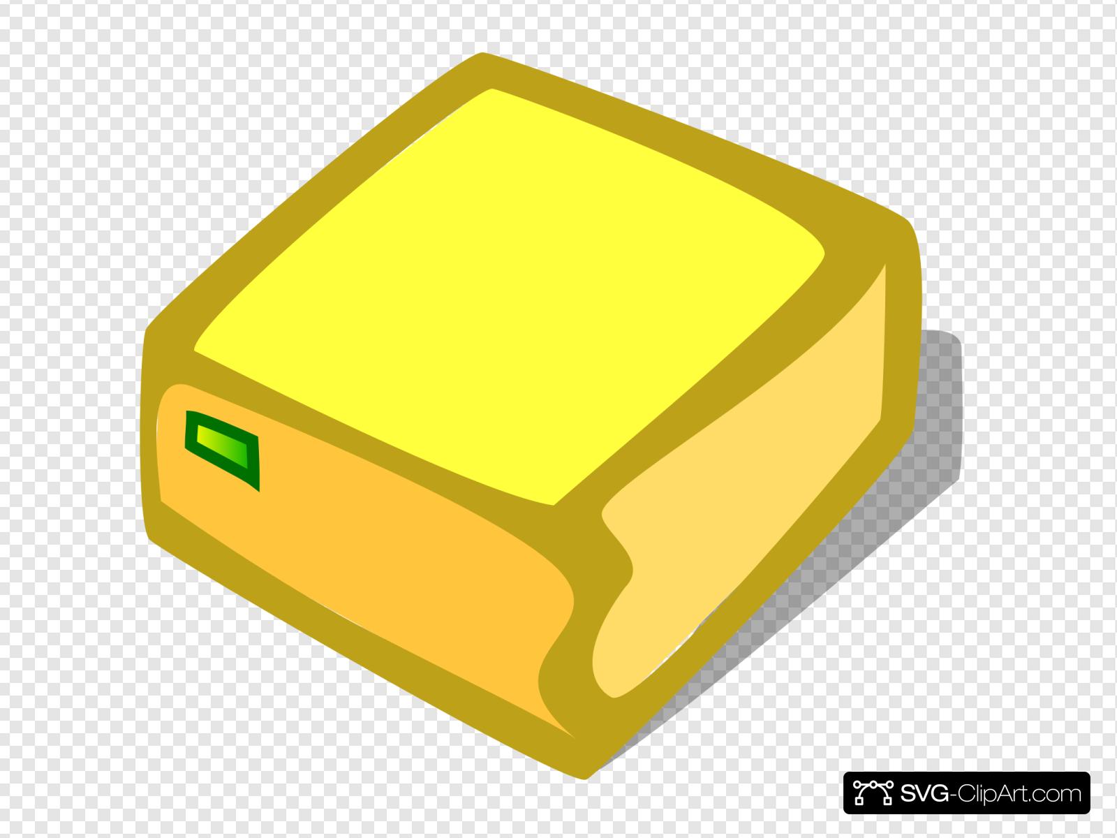 Bright Yellow Box Clip art, Icon and SVG.
