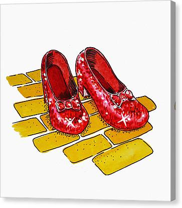 Follow The Yellow Brick Road Canvas Prints.