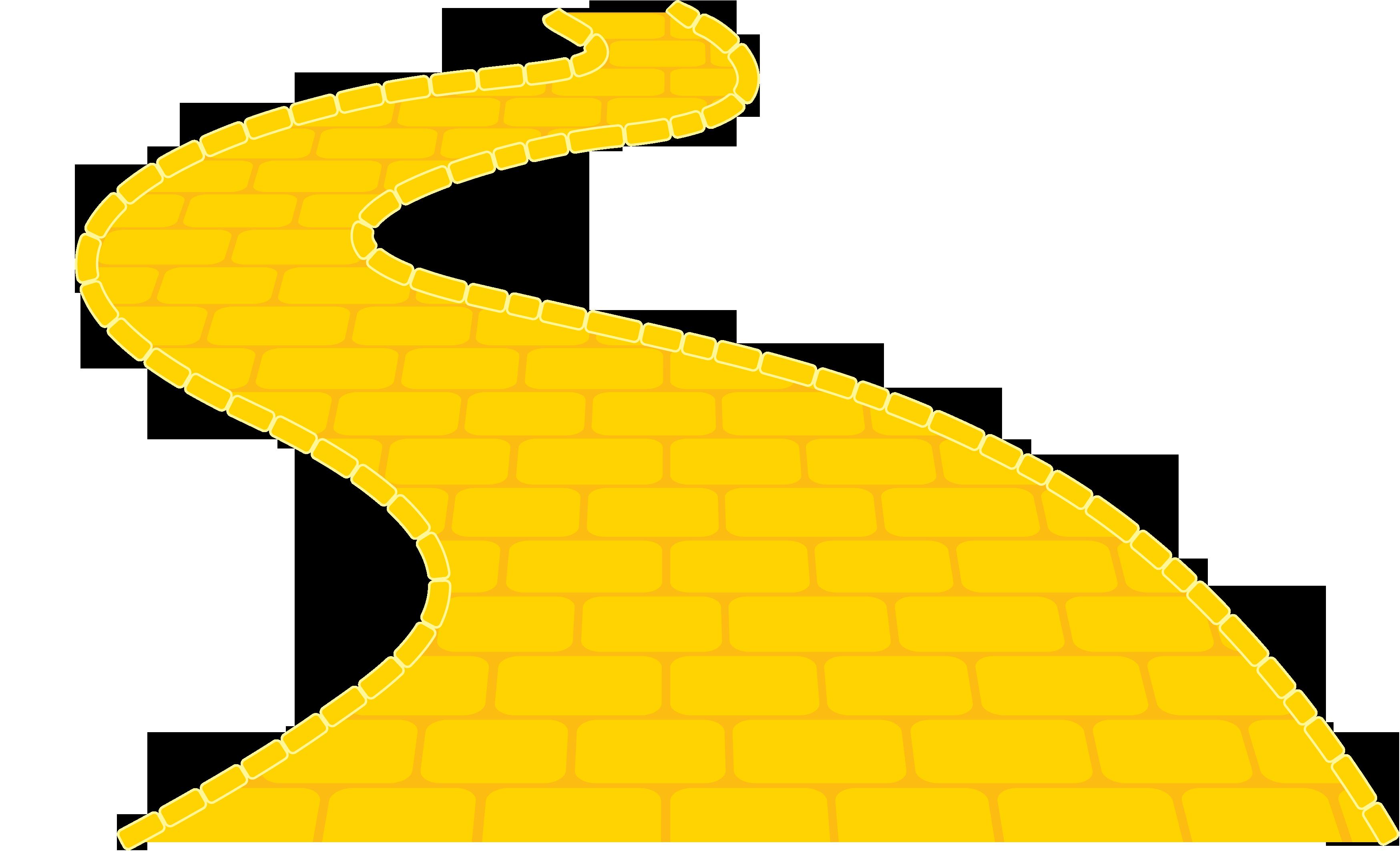 The Wizard Yellow brick road Clip art.