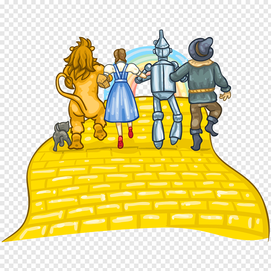 Wizard of Oz characters, Scarecrow Cowardly Lion Tin Woodman.