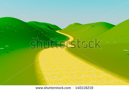 Winding Yellow Brick Road Clipart.