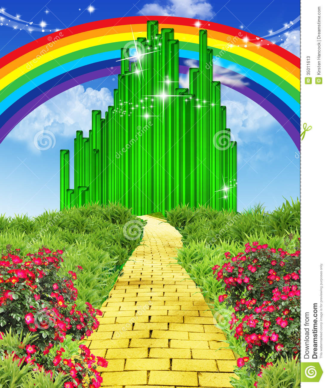 Free Yellow Brick Road Clipart.