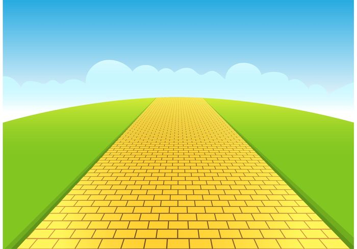 Yellow Brick Road Vector.
