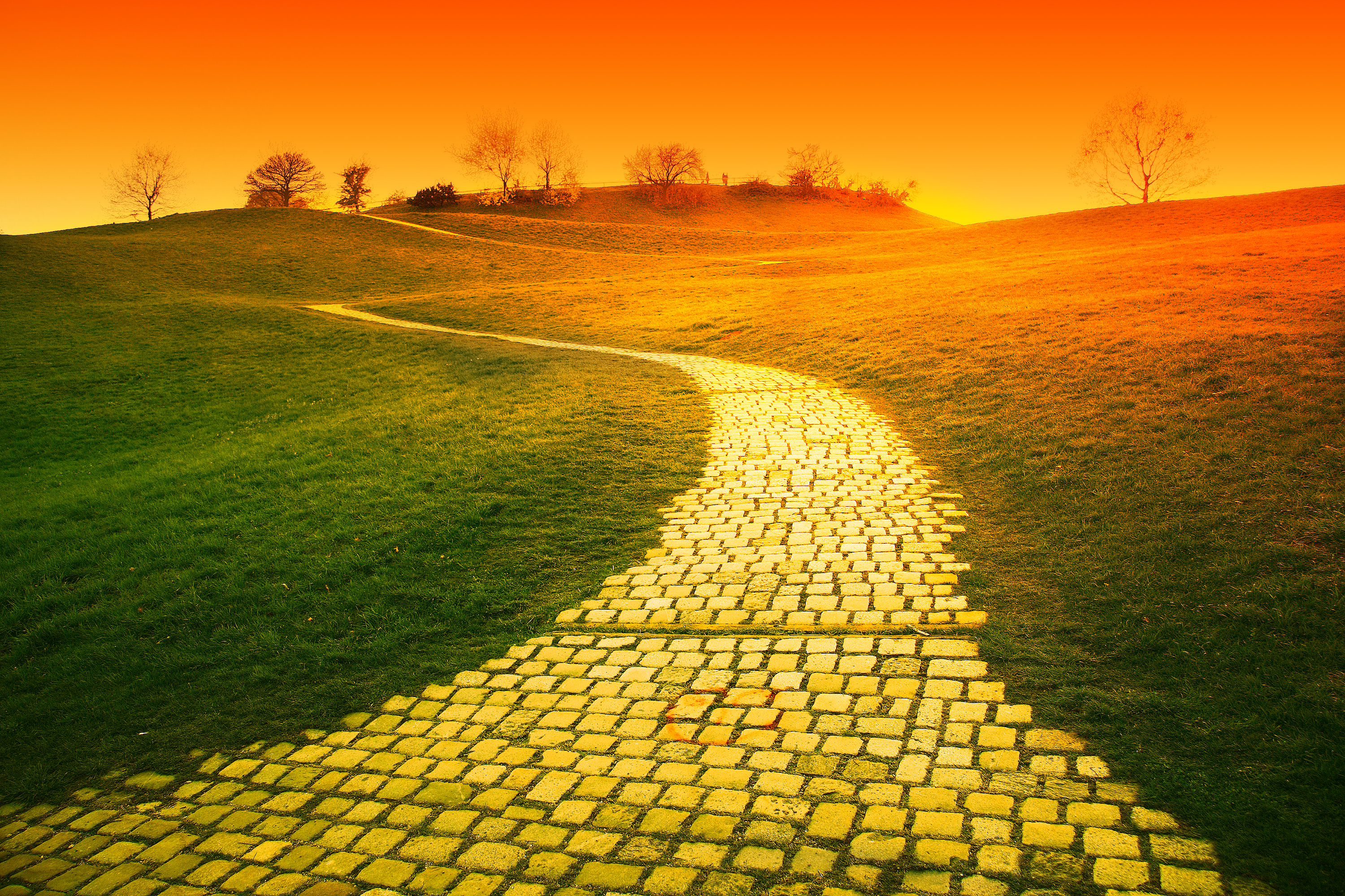 Images: Yellow Brick Road Clipart Black And White.
