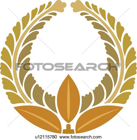 Clipart of Yellow, brown and gold leaf round Frame u12115780.