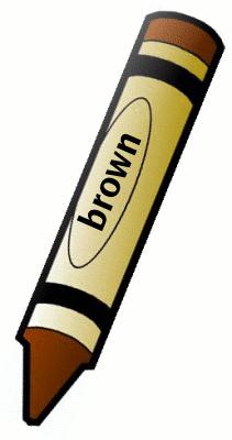 Brown Crayon Clipart.