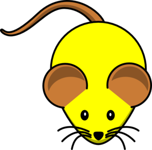 Yellow Mouse W/ Brown Ears Clip Art at Clker.com.