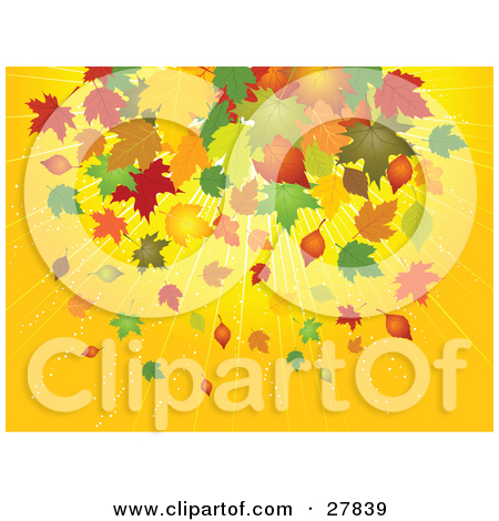 Clipart Illustration of Green, Orange, Brown, Red And Yellow.