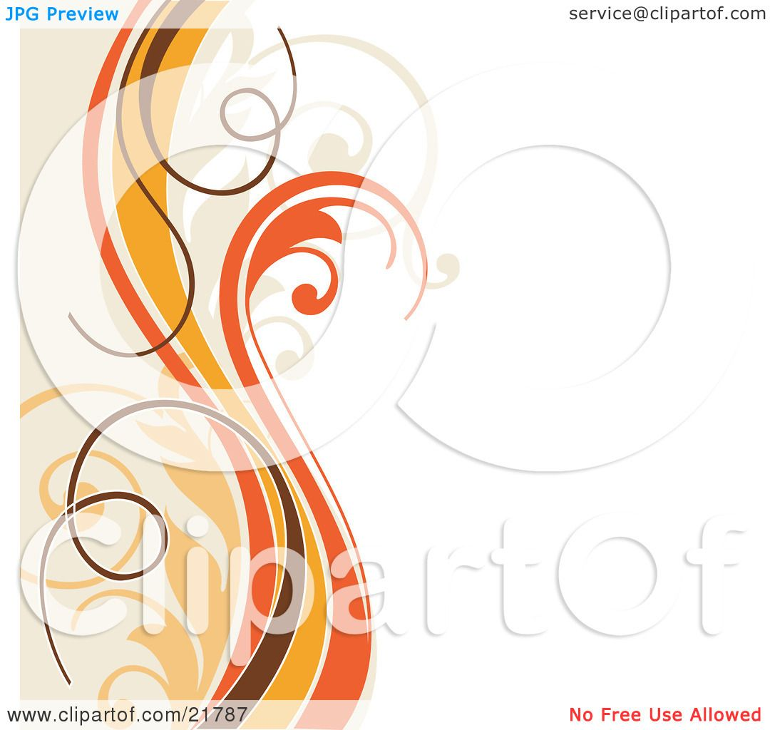 Clipart Picture Illustration of Vertical Orange, Yellow, Brown And.