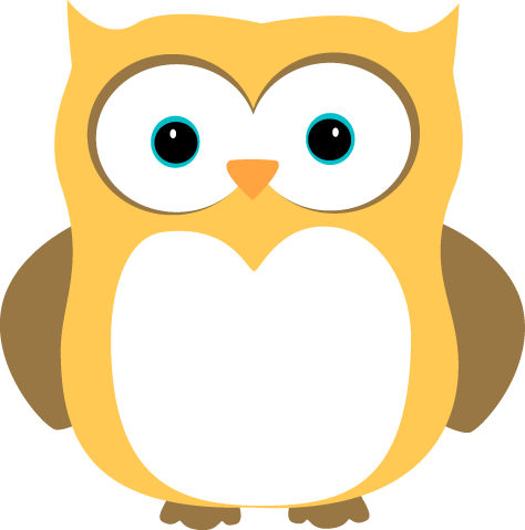 Yellow and Brown Owl Clip Art.