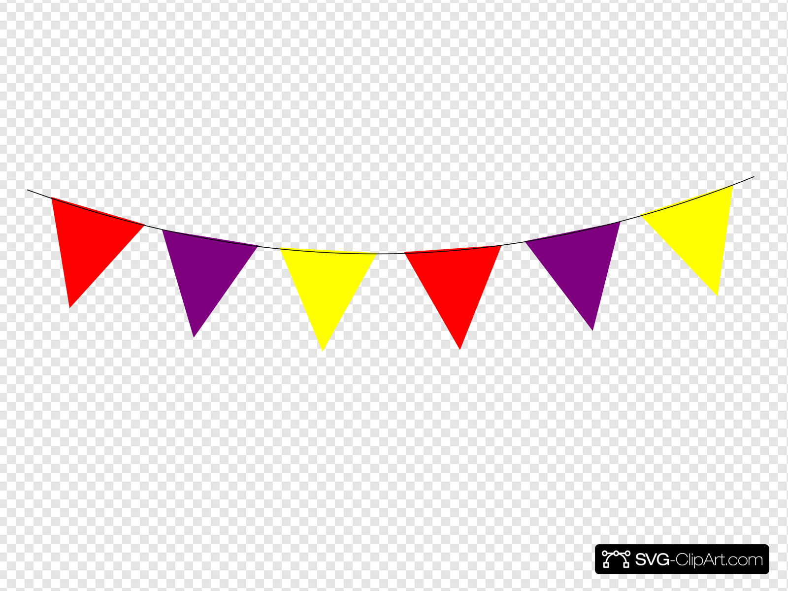 Red Purple Yellow Bunting Clip art, Icon and SVG.