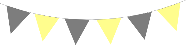 Yellow Gray Bunting Flags PNG, SVG Clip art for Web.