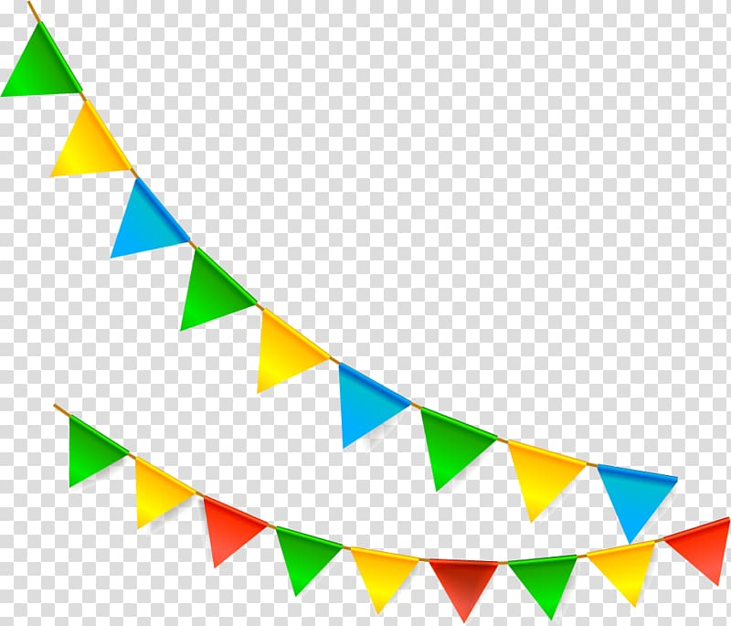 Multicolored buntings, Bunting Flag Pennon, Cartoon flags.