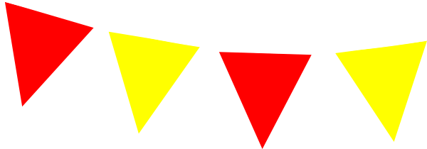 Red And Yellow Bunting Clip Art at Clker.com.