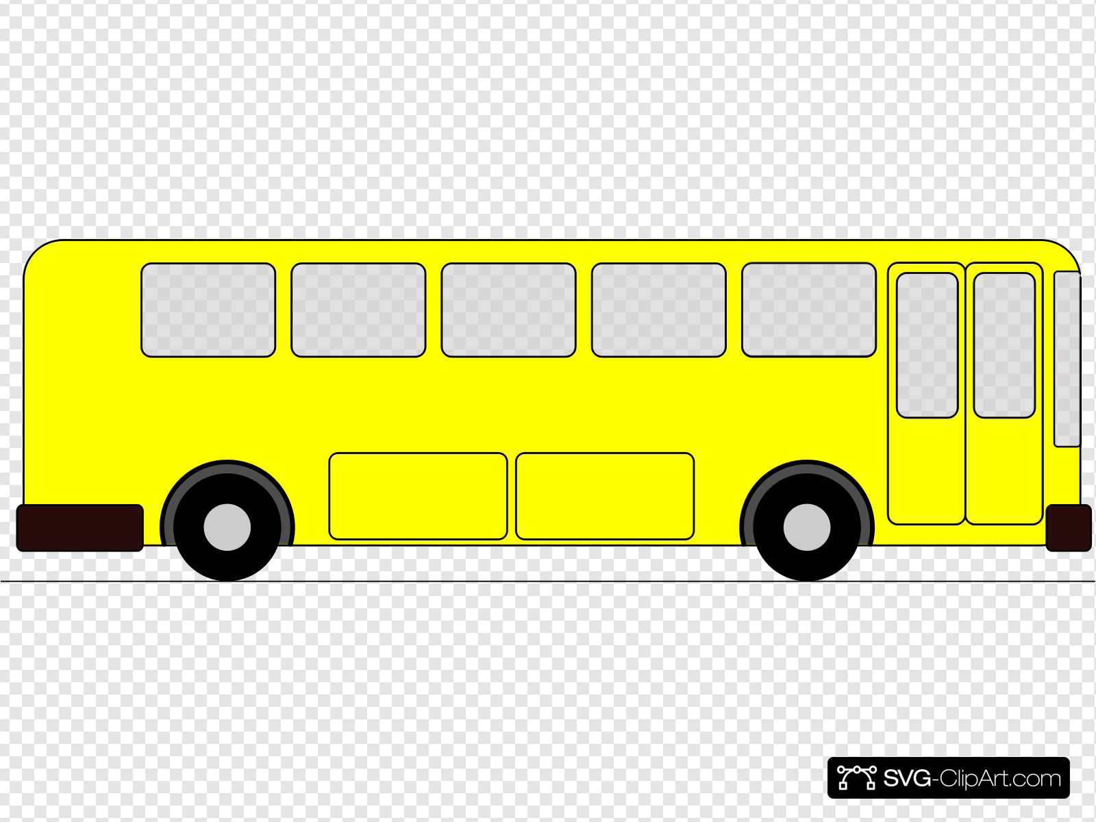 Yellow Bus Clip art, Icon and SVG.
