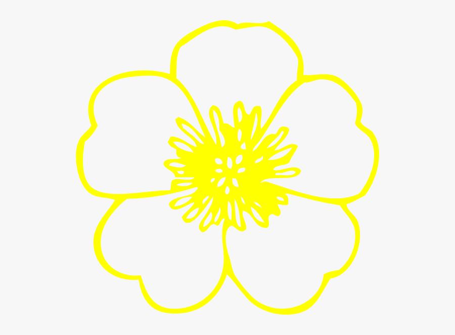 Yellow Buttercup Flower Svg Clip Arts.
