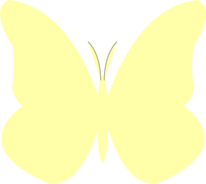 Bright Butterfly Yellow Clip Art at Clker.com.