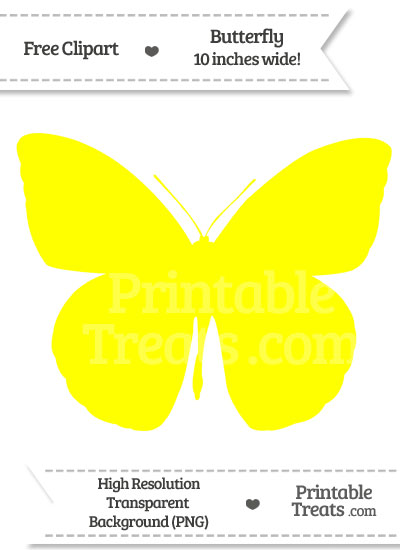 Yellow Butterfly Clipart — Printable Treats.com.
